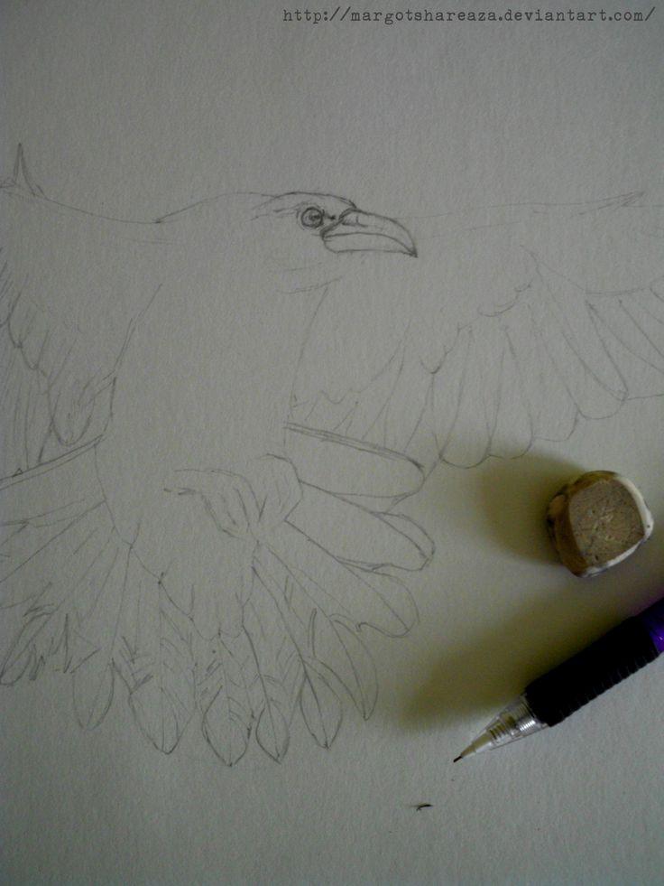 WIP tattoo Raven
