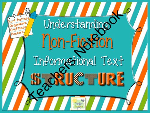 Non-Fiction Informational Text Structure Pack from TeachingintheSunshine on TeachersNotebook.com -  (20 pages)  - This Understanding Informational Text Structure Pack includes; vibrant signs (with definitions, graphic demonstrations and signal words), nonfiction card sort, graphic organizers and a craftivity.