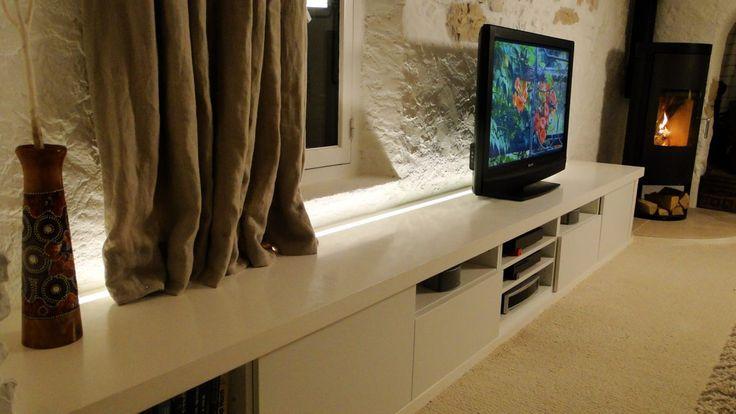Banc TV IKEA BESTA personnalisé (+ plan 3D) !  #BESTA #DIODER #ikea