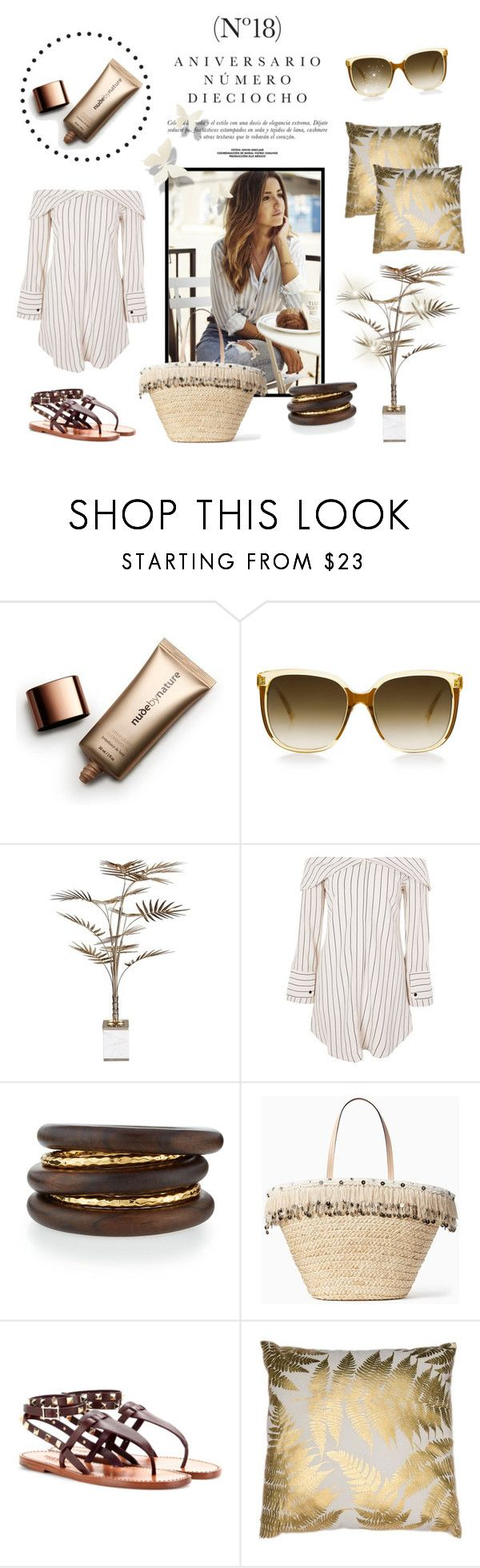 """""""Getaway"""" by laurenleigh-bee on Polyvore featuring Sinclair, Nude by Nature, Steven Alan, Bella Loco, Topshop, NEST Jewelry and Kate Spade"""