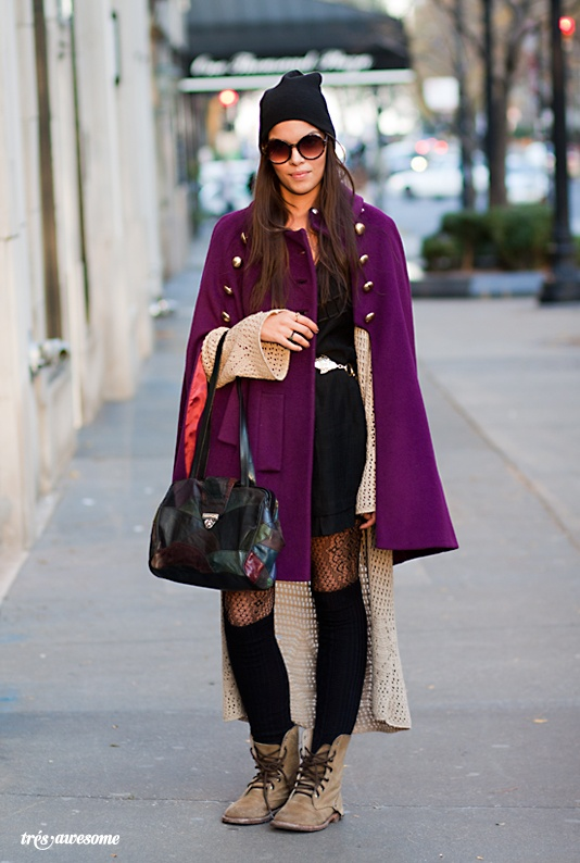 This cape has the best color I've seen floating around; love it over a duster, black dress, lace tights, knee socks and ankle boots--urban and ladylike.
