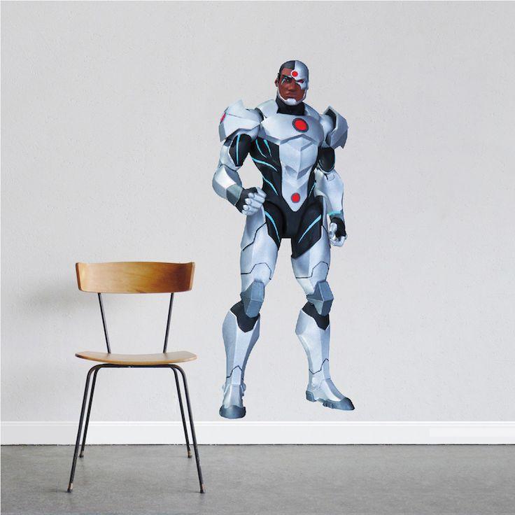 Cyborg Superhero Wall Decal Room Decor - Superhero Wall Design - Cyborg Wall Mural - DC Comics Bedroom Stickers | Prime Decals