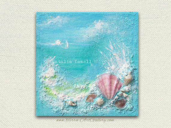 Ocean Dream Original Mixed Media Painting door TerraArtGallery