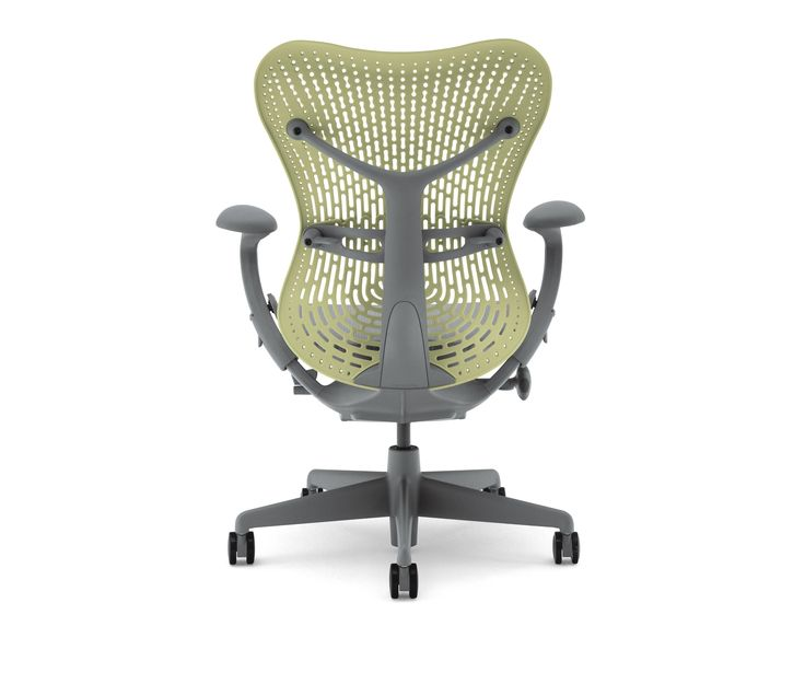 Mirra 2 chair contains up to 46% recycled content (21% post-consumer and 26% post-industrial) and is 93% recyclable at end of its life.  Mirra 2 chairs are GREENGUARDTM certified as low-emitting product.  Mirra 2 fabric has been certified by GreenTag and approved as GreenTag GreenRate Level A