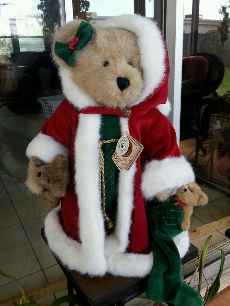 Boyd's bears Christmas Krystle B. Bearbright in Boyds | eBay