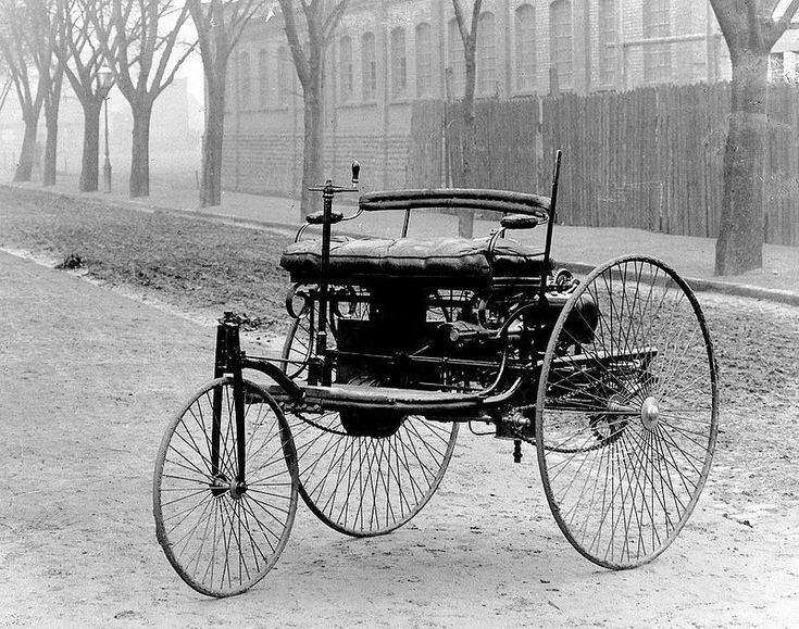 The original Benz Patent-Motorwagen, first built in 1885 and awarded the patent for the concept