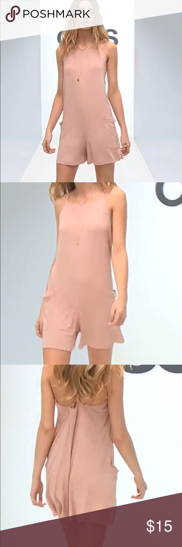 NWT ASOS Dusty Pink Romper Sz 8 Romper by ASOS Collection, Super lightweight stretch fabric, Ribbed finish, Scoop neckline, Oversized pockets, Dropped waist, Relaxed fit, Machine wash, 95% Viscose, 5% Elastane,  Size US 8. Use the ASOS SIZING CHART FOR SIZE REFERENCE ASOS Pants Jumpsuits & Rompers