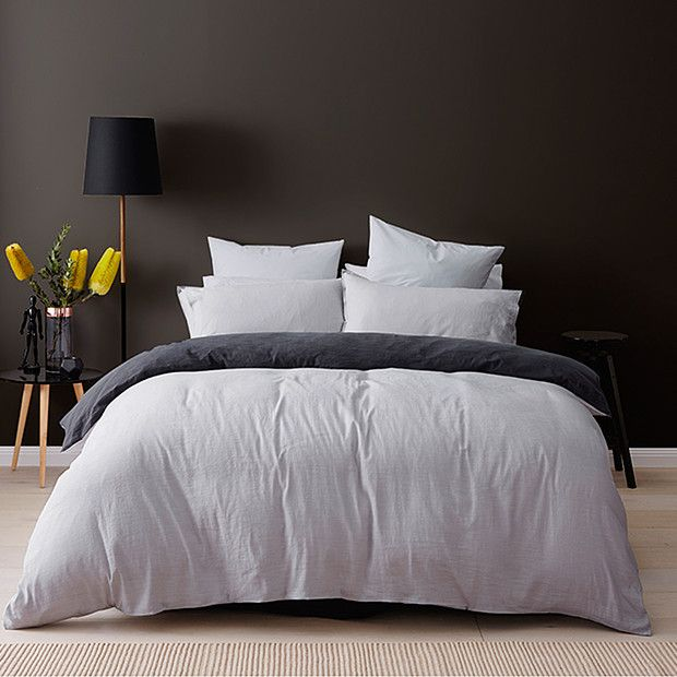 Linen Cotton Quilt Cover Set - Grey | Target Australia 99