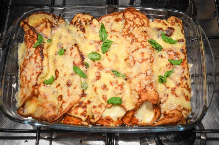 Crepes med köttfärs och mozzarella