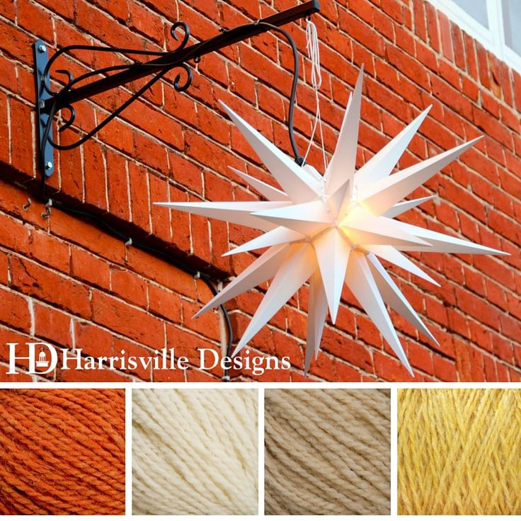 """'Star of the Season"""" color palette featuring our HIGHLAND yarn in Melon, White, Sand, and Cornsilk."""