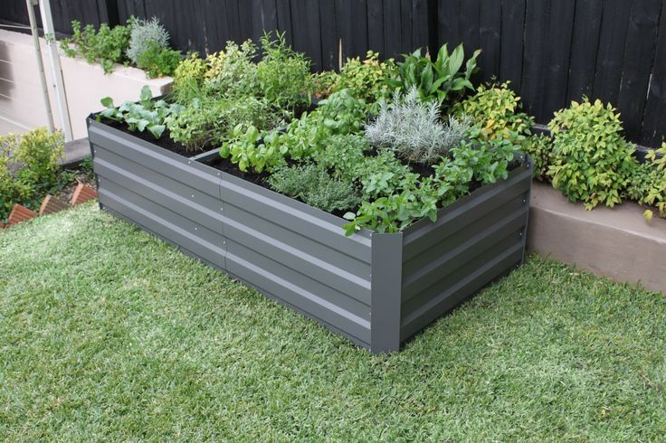 Garden Bed - Slate Grey 1800L x 900W x 450H. Comes with 4 x internal structural braces