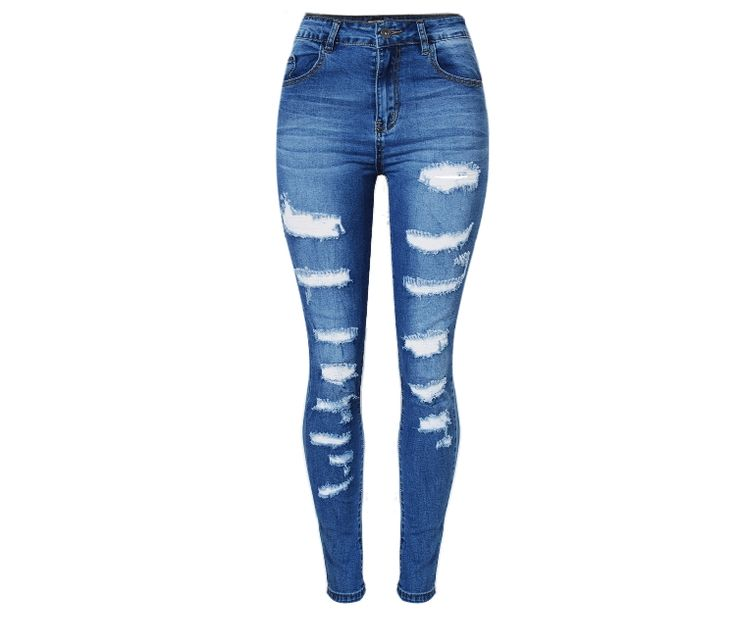 27.13$  Buy now - http://alie4e.shopchina.info/go.php?t=32792141243 - Retro Stretchripped Jeans For Women Fashion Slim Fit Skinny Women Pencil Pants Cave Plus Size Denim Trousers Clothing For Ladie  #aliexpress