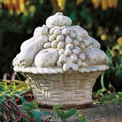 Stein Früchtekorb für den Garten