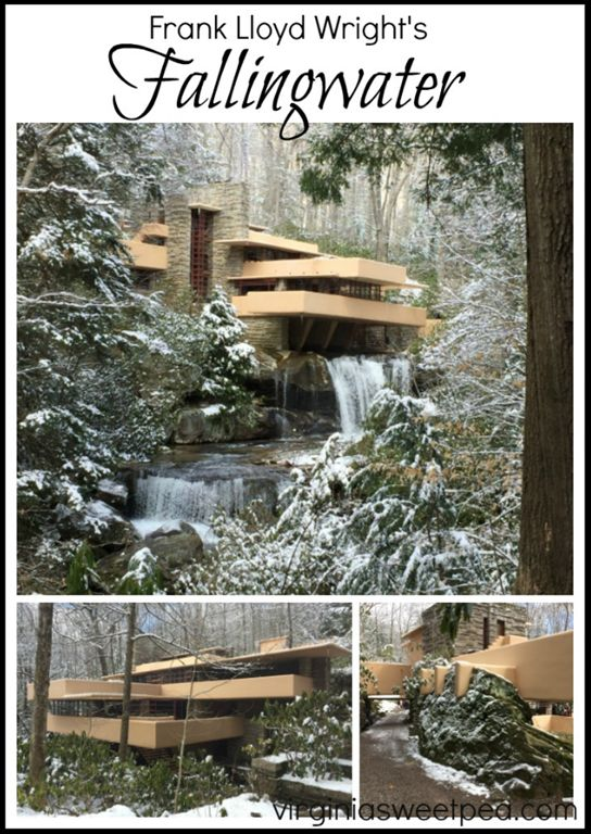 """Fallingwater - A Frank Lloyd Wright Wright designed home in Pennsylvania is a """"must see"""" for anyone who appreciates good architecture. virginiasweetpea.com"""