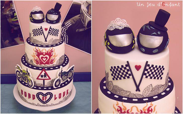 Motorbike wedding cake - gâteau de mariage moto