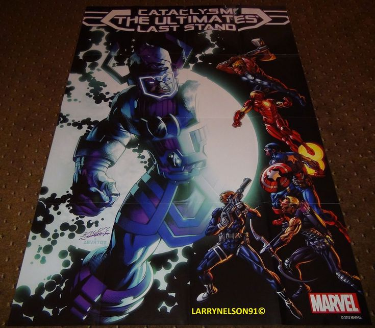 GALACTUS VS AVENGERS POSTER MARVEL 24X36 CATACLYSM THE ULTIMATES LAST STAND THOR  Avengers
