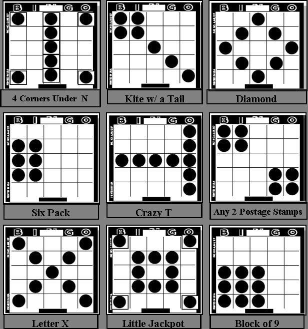 bingo patterns | St Andrews Bingo ~ Game Patterns