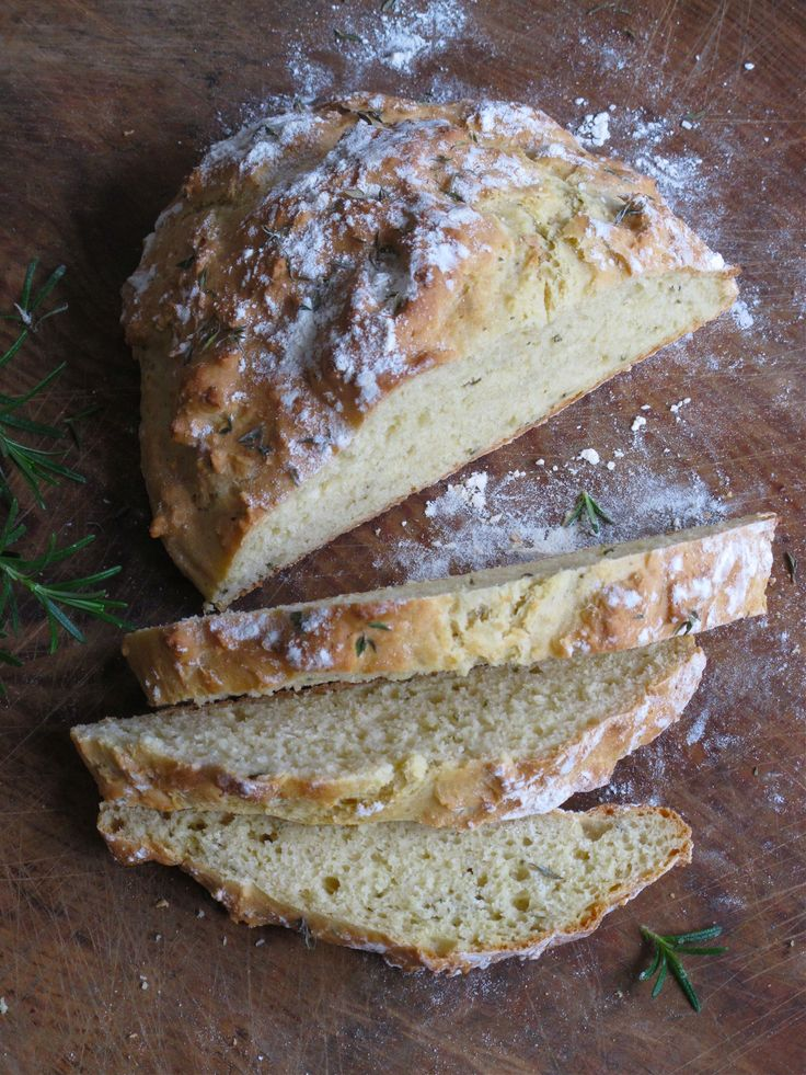 Yep. Definitely making this. Yeast-free Rosemary + Thyme Soda Bread by The Brown Paper Bag.