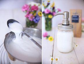 Flüssige Seife ganz einfach selbst gemacht - für dein Ball Mason Jar Seifenspender