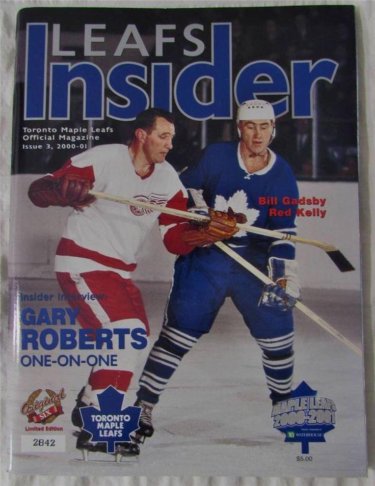 Toronto Maple Leafs Game Program 2000 - 01 Leafs Insider VS Red Wings Red Kelly #TorontoMapleLeafs
