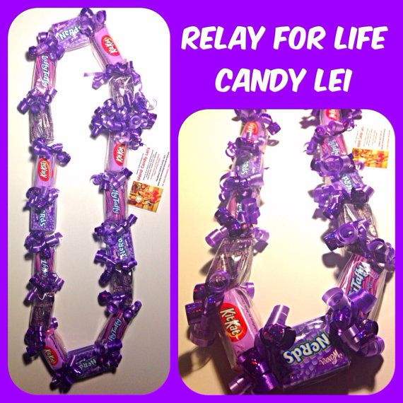 Relay For Life Theme Candy Lei by IslandCandyLeis on Etsy