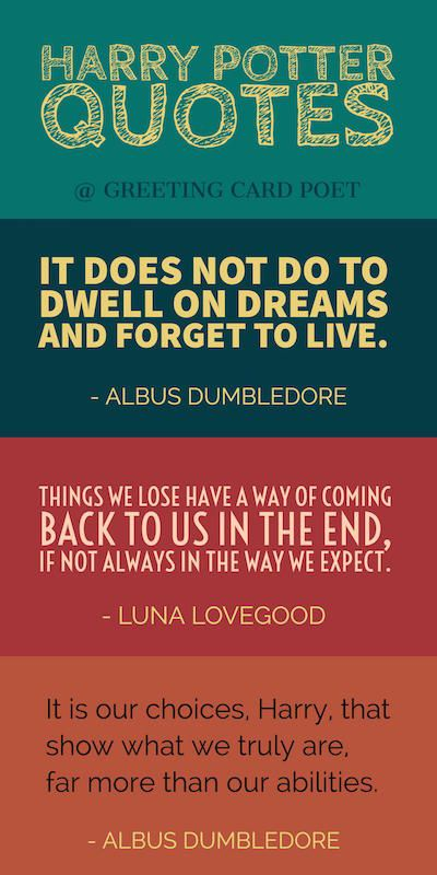 Harry Potter quotes from the likes of Harry Potter, Dumbledore and Hermione. Funny, Inspirational and Magical quotes from our favorite wizard. Great for Muggles!