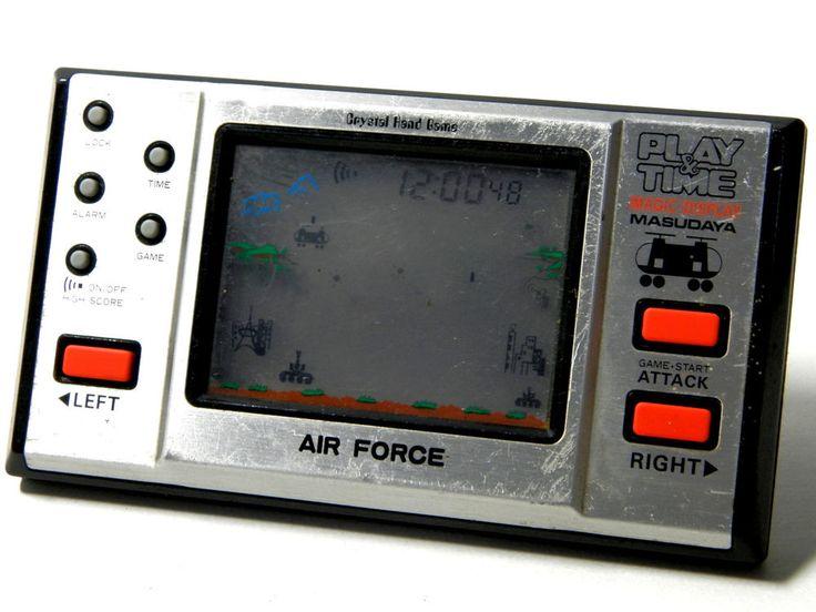 "80s Retro Masudaya LCD Game Watch ""Play & Time"" Air Force Made in Japan 1982 #Masudaya"