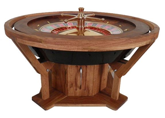 Coffee table casino wheel
