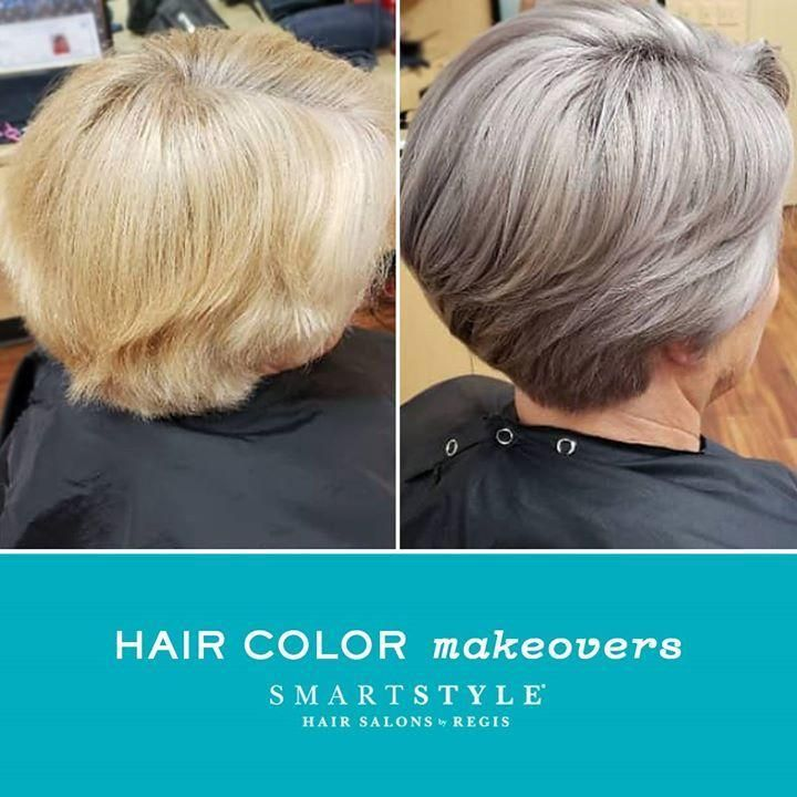 How Does A Makeover Sound Treat Yourself To A Fabulous New Look In A Flash At Smartstyle Like This Icy Grey Hair Color Silver Hair Color Silver Grey Hair