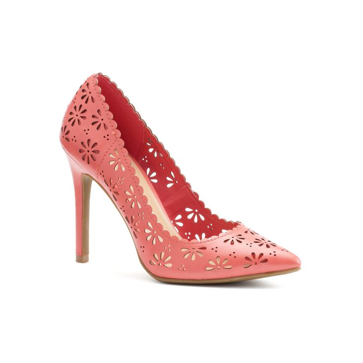 LC Lauren Conrad Women's Floral Pumps, Size: 7, Pink Other