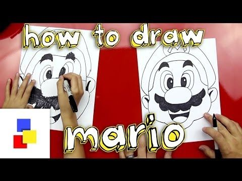 Step by step lesson on how to draw Mario.