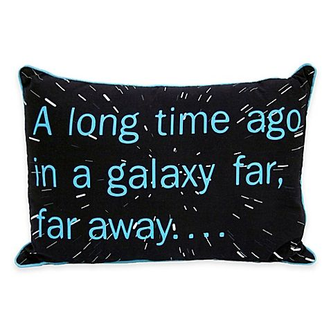Star Wars™ Classic Sayings Oblong Throw Pillow - BedBathandBeyond.com