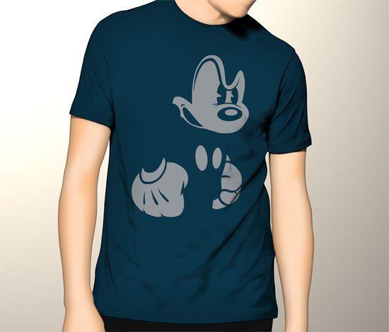 Disney Mickey Mouse Big Bad Black Man's Tshirt #Gildan #PersonalizedTee