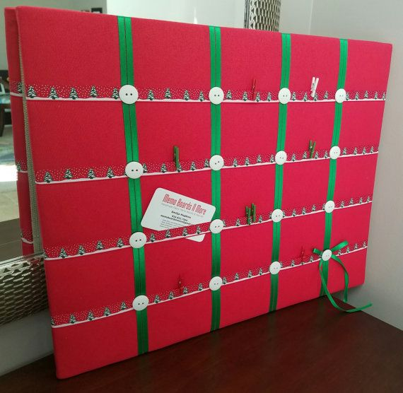 Christmas picture board Holiday memo board by MemoBoardsNMore