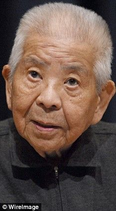 Tsutomu Yamaguchi - This slight 93-year-old with white hair, who is now largely confined to a wheelchair, was formally recognized as one of the tiny handful of people to have survived not one but both of the American atomic bombs dropped on the Japanese cities of Hiroshima and Nagasaki in August 1945 - bringing to an end to World War II. He fled from Hiroshima to his home in Nagasaki, and still managed to live to 93.