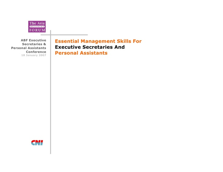 essential-management-skills-for-executive-secretaries-and-personal-assistants by Kenny Ong via Slideshare