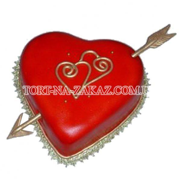 Торты на день святого валентина киев