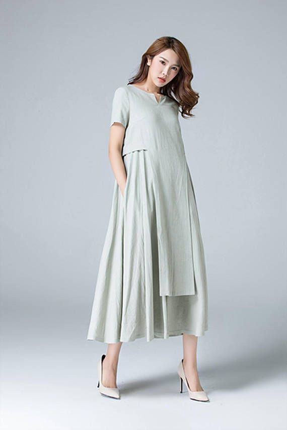 8b3edba825 Loose linen dress
