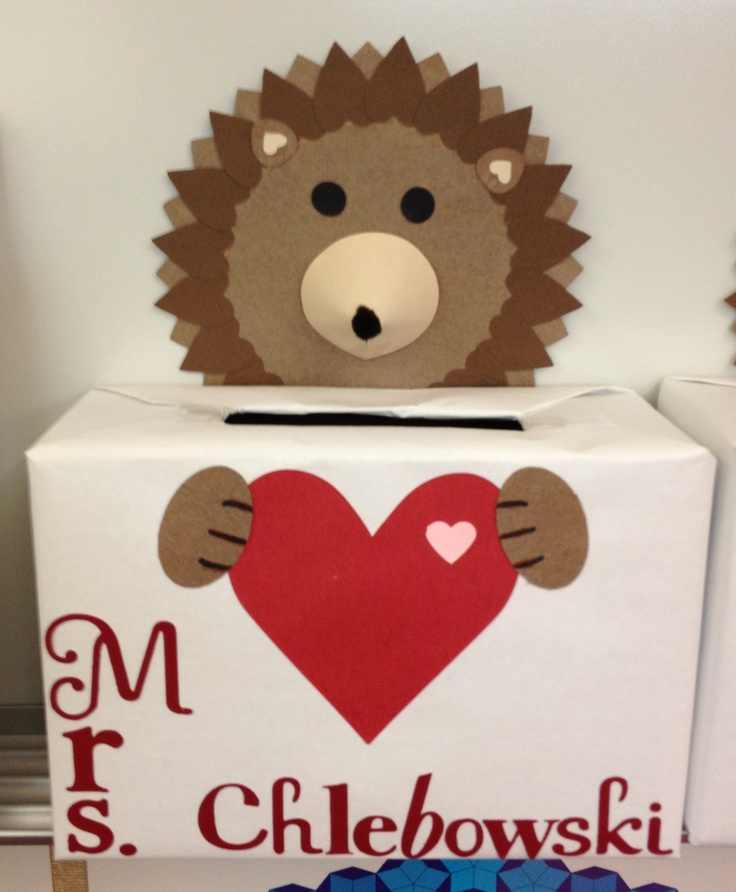 Hedgehog Classroom Decor : Hedgehog valentine box they have a in the kids