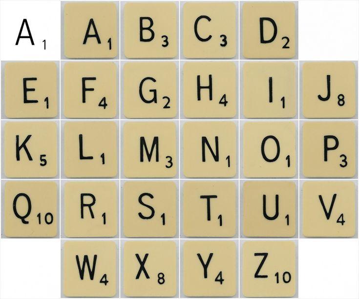 Printable Scrabble Tiles Word
