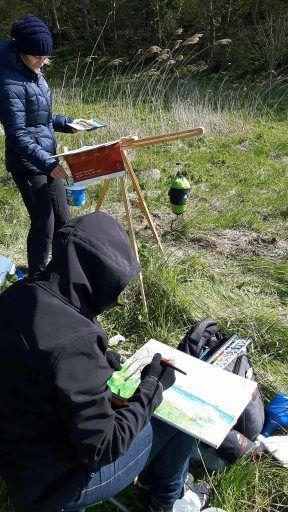 Malen bei Alt Reddevitz – Etappe unsererMalreise auf Rügen   Malen am Having bei Alt Reddevitz (c) FRank Koebsch (1)