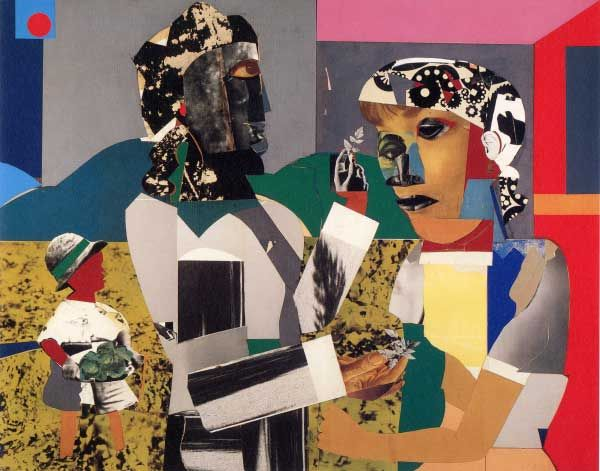 Romare Bearden, La Primavera, 1967. Collage and mixed media on board, 44 x 56 in.