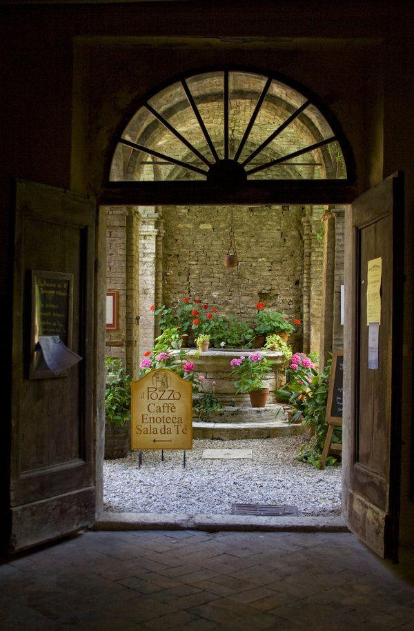 San Quirico Courtyard by TuscanSon   San Quirico d'Orcia, Italy
