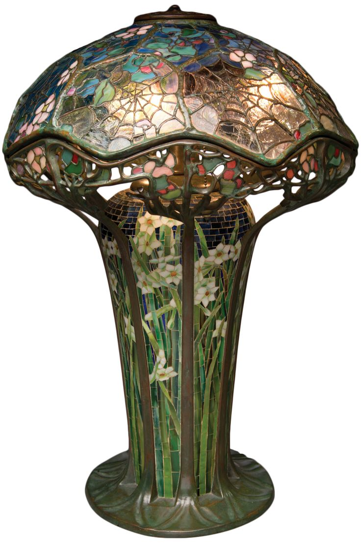 This american art nouveau table lamp is no longer available - The Tiffany Cobweb Table Lamp Listed In 1906 For 500 One Example Sold At Auction
