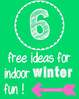 6 ideas for (free) indoor winter fun.  Indoor snowball fight, snow ice cream, and more!
