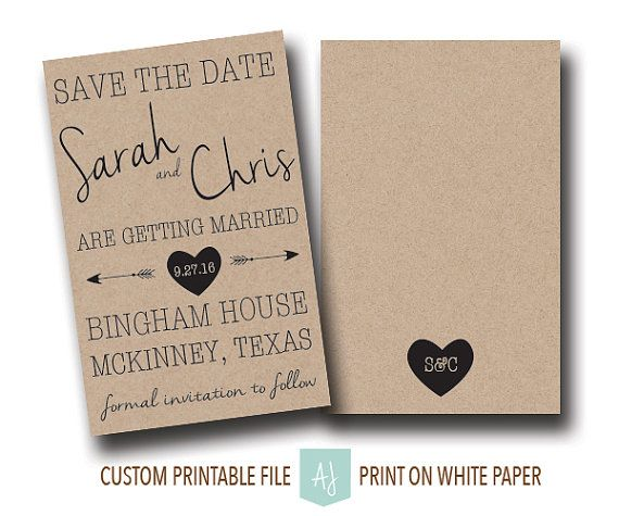 These save the dates are perfect for any wedding.  Colors shown are examples only and any colors can be matched.  Click through to see other sample colors or matching invites, thank you cards, and more Purchase just the save the date or purchase a combination of files by choosing from the drop down menu online.  Or shop our 1000+ ideas for all of life's journeys!