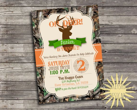 17 best ideas about Hunting Birthday Parties – Hunting Party Invitations