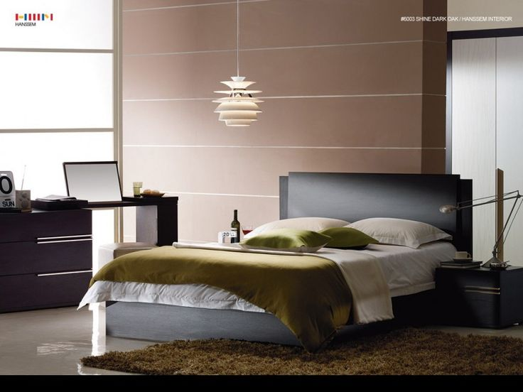 wall covering ideas minimalistic kicky brown color paint for contemporary master bedroom