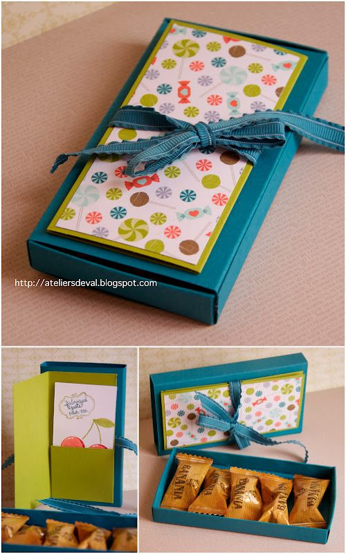 Present box with integrated card / Schokobox inkl. Karte