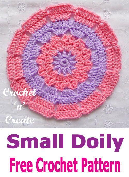 Small Doily Crochet Pattern Uk Format Crochet Crochet Patterns